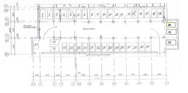 План- схема парковки